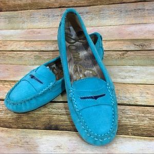 Sam Edelman Jones Moc Penny Loafer - Aqua - 6.5